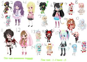 20 Adopts -3- OPEN! by Leafy089