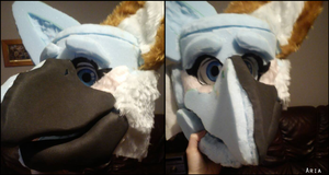 Aria fursuit toony 2 by BlueGriffyon