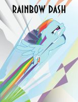 Rainbow Dash Art Deco Poster by Samoht-Lion