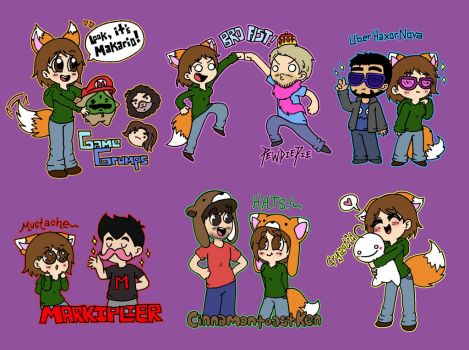 My Favorite Youtube Gamers! by foxgirlKira