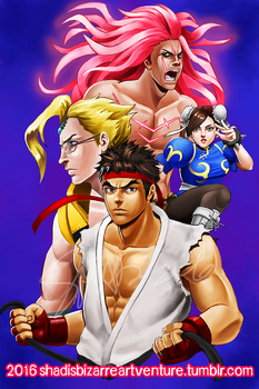 COMMISSION: STREET FIGHTER V by viciousSHADi