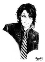 Gerard Way by XBlackFerretX