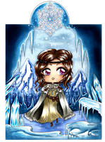 :Com: Chibi ~ Ice Cave ~ by Linelana