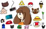 Me and some of my favorite things by Link-Pikachu