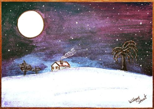 Silent Night - Space/Galaxy (Christmas Card) by WildpawShecat
