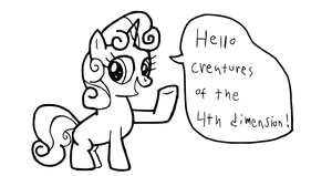 Message From Sweetie Belle by PenPony