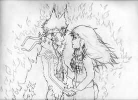I Won't Let Go of your Hand - Sketch by BLooMChan