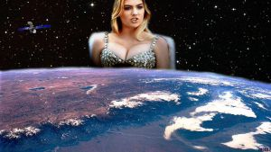 Omega Giantess Kate Upton (QUICKIE) by darthbriboy
