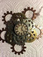 Steampunk Clock Pin for sale by Fawkes-Rinzler
