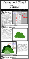 Leaves and Brush tutorial (SAI and others) by TheStormUnleashed