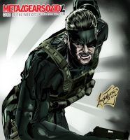 Metal Gear Solid4-Solid Snake by Lannytorres