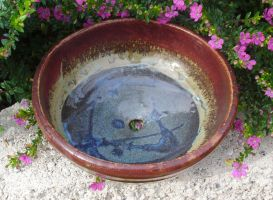 Red and Blue Planter by Stormphyre