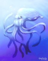 Blue Octopus by Quadrackss