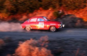 Garth's Saab at Mt Hood Rally by qmorley