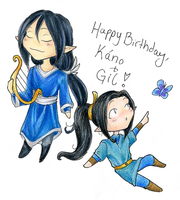 Happy birthday Maglor and Gil by avi17