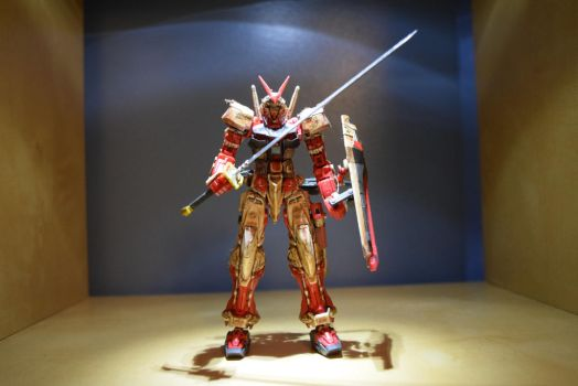 RG Gundam Astray Red Frame (Front View) by EnemySpartan