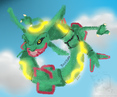 SprayPainted Rayquaza by frandlle