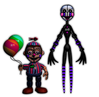 FnaF[SL]   -  Funtime Puppet and BB by Kero1395