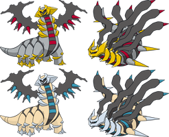 Giratina normal et shiny AO by Legan666