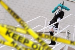 Hatsune Miku Secret Police Cosplay: Keep Out! by SpicaRy