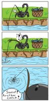 Fishing a Hippojay by Scorpius02