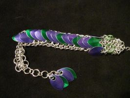 Green and Purple Chainmail Dragon by xThe-Royal-Dragonx