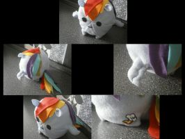 Rainbow Dash Chubby-Plush Collage by HipsterOwlet