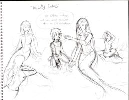 The Silly Ladies sketch by WingedLioness