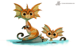 Daily Painting 887. Sea Monkey by Cryptid-Creations