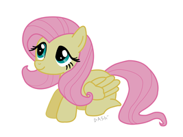 Cute Fluttershy Vectored by Dash1e