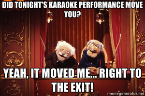 Statler and Waldorf: Karaoke by MrAngryDog