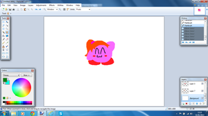 So I attempted to draw Rainbow in Paint.NET... by PoyoPoptart