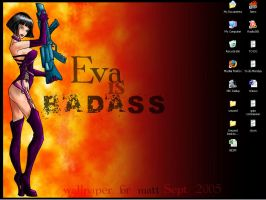 badass eva wp by ChocoboGoddess