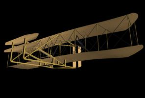 1903 Wright Flyer Beneath by ChozoBoy