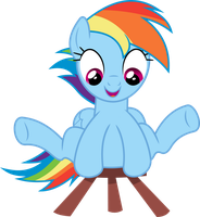 Rainbow Dash loves her stool by dasprid