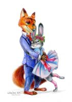 Judy and Nick by LifeJoyArt