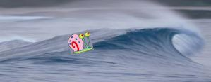 Gary is Riding a Wave by NickelodeonLover