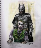 Batman + Joker by SecretShowMonster