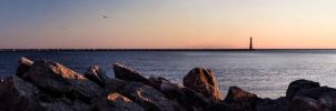 Muskegon's Pere Marquette Panorama by 707ArtWorks