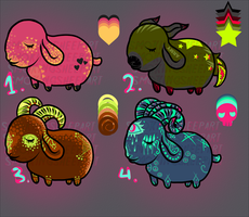 Chibi Sheep adopts batch 1-ALL OPEN by SmokingSheep