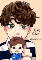 Chen with Paper Toy by wakaminanako