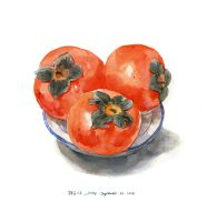 2014-9-22 Persimmon x3 by amoykid