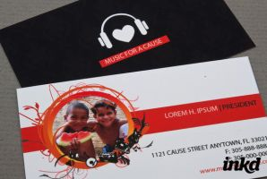 Music Benefit Business Card by inkddesign