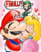 Valentine's Mario and Peach by mosobot64