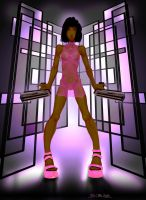 pink dress by Bielegraphics