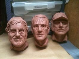 Jaws Trio Reliefs by Phasmos
