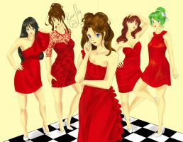 Fashion Project: Red Ladies by Rice-Lily