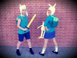 Finn and Fionna ~Adventure Time~ by SierennePoisonz