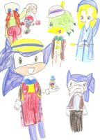 Sonic as Pinocchio by Soraply11