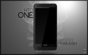 HTC One black PSD by danishprakash